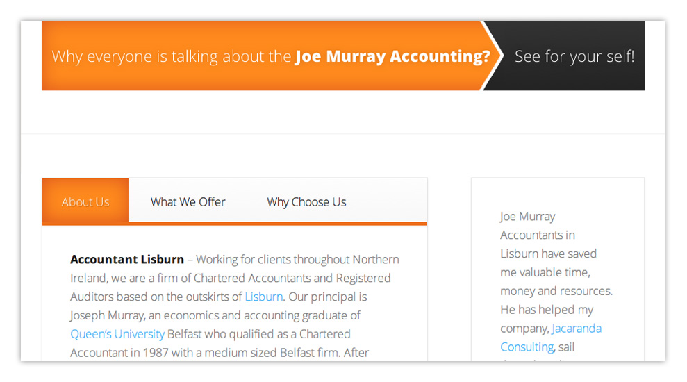 Web designers Belfast design 3 middle image by veetoo design studio Northern Ireland
