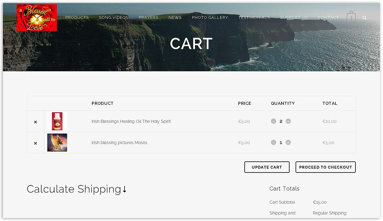 Woocommerce shopping cart design screen shot by veetoo design Northern Ireland.