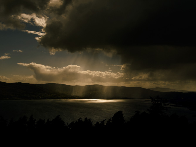 Irish landscape photograph of storm clouds over Carlingford Lough, Northern Ireland - photo 1824 photo icon.