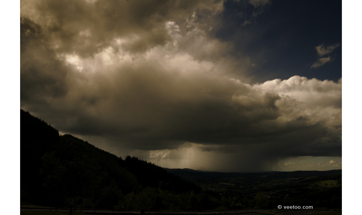 Irish landscape photograph of storm clouds at Rostrevor, Northern Ireland.