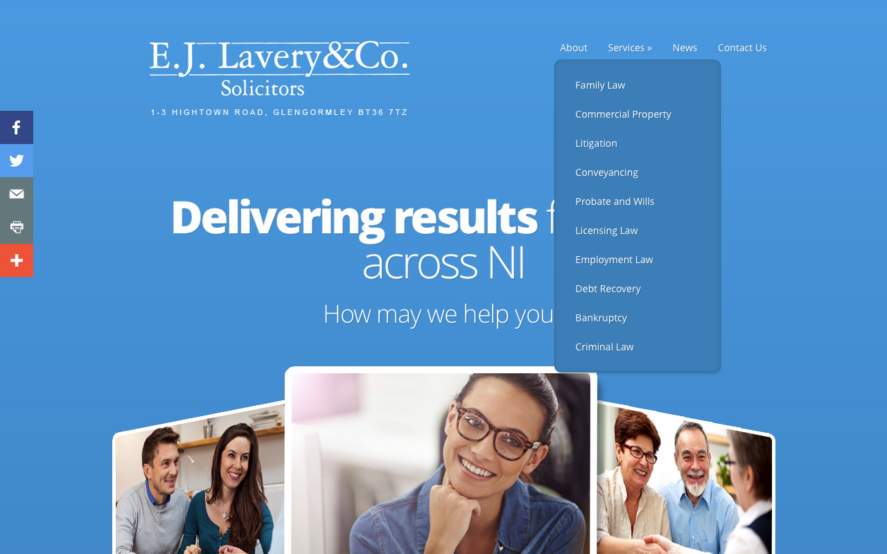 Web designers Belfast project overview EJL 2.