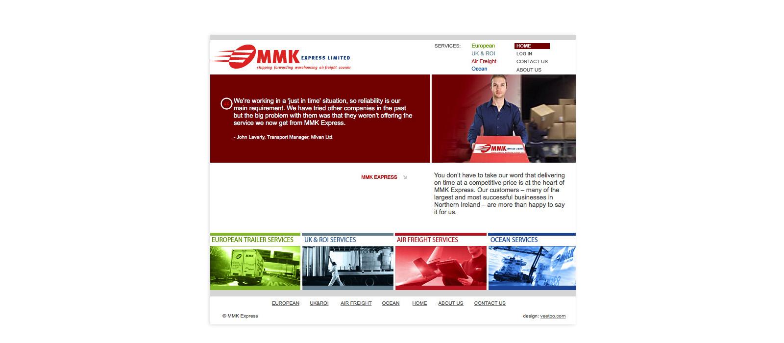 Web design Belfast portfolio - mmk 1.