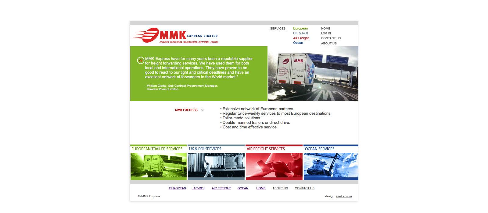 Web design Belfast portfolio - mmk 2.