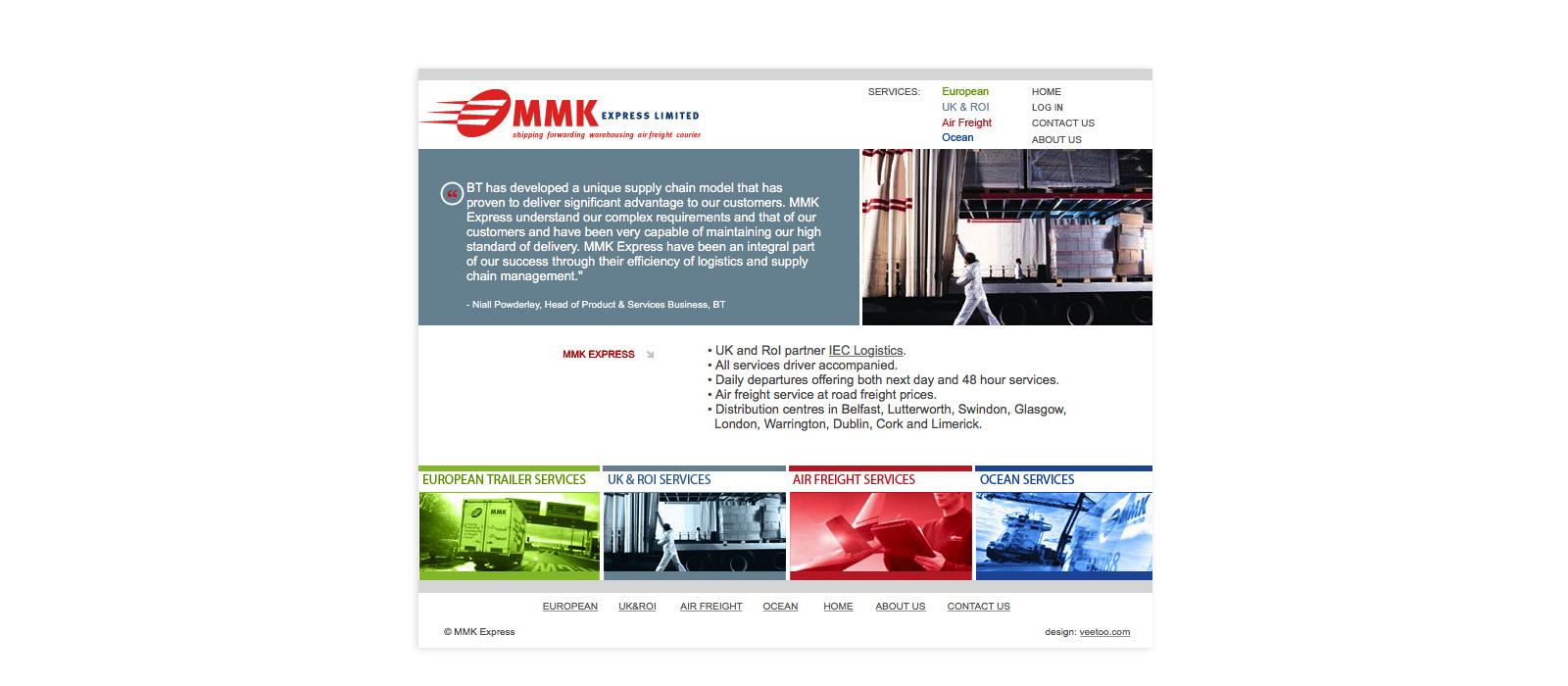 Web design Belfast portfolio - mmk 3.