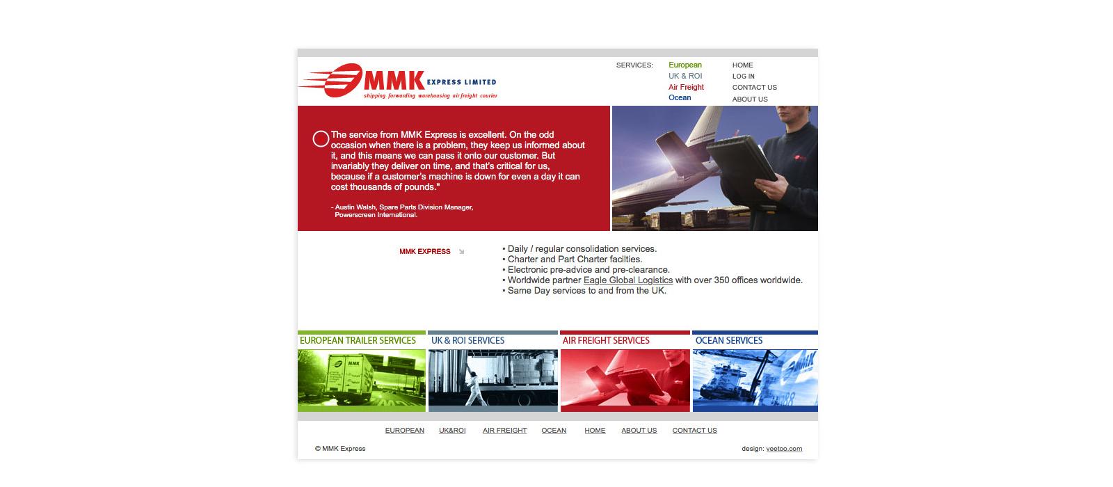 Web design Belfast portfolio - mmk 4.