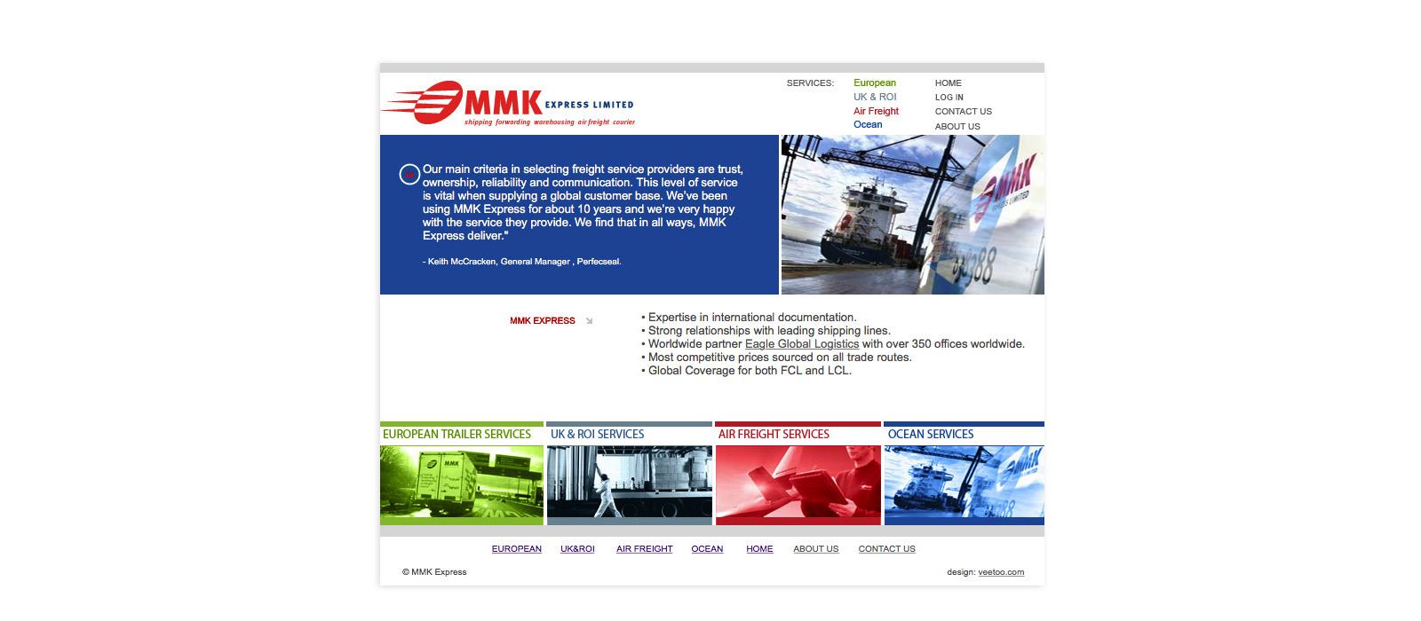 Web design Belfast portfolio - mmk 5.