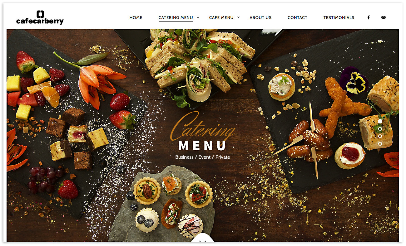 Web designers Belfast, web design for Cafe Carberry - image 2.