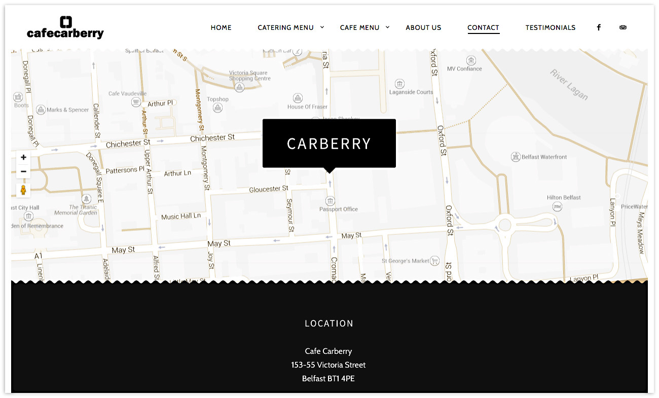 Web designer Belfast, web design for Cafe Carberry - image 6.
