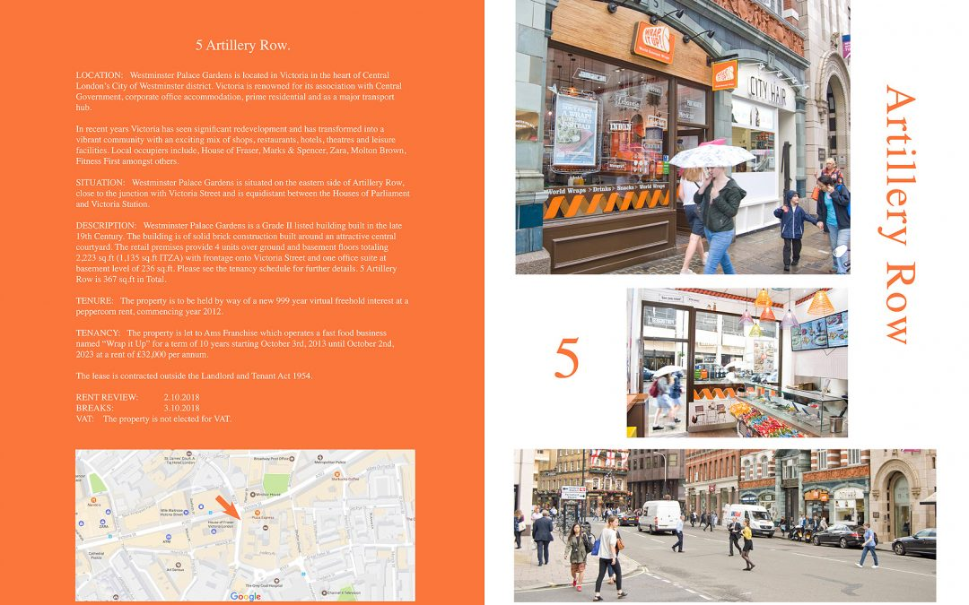 Brochure design for London property developers