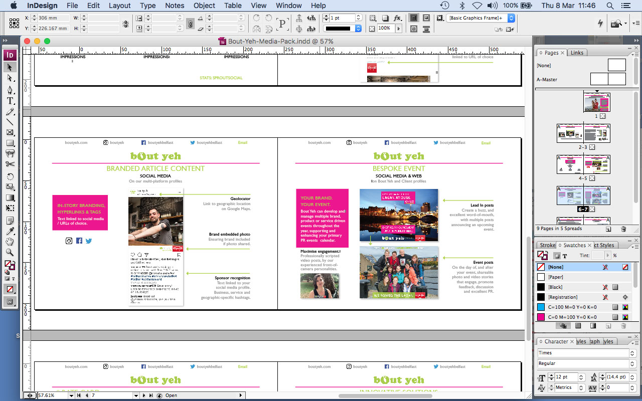 Adobe InDesign CS3 functioning correctly on Mac OS Sierra - screenshot.