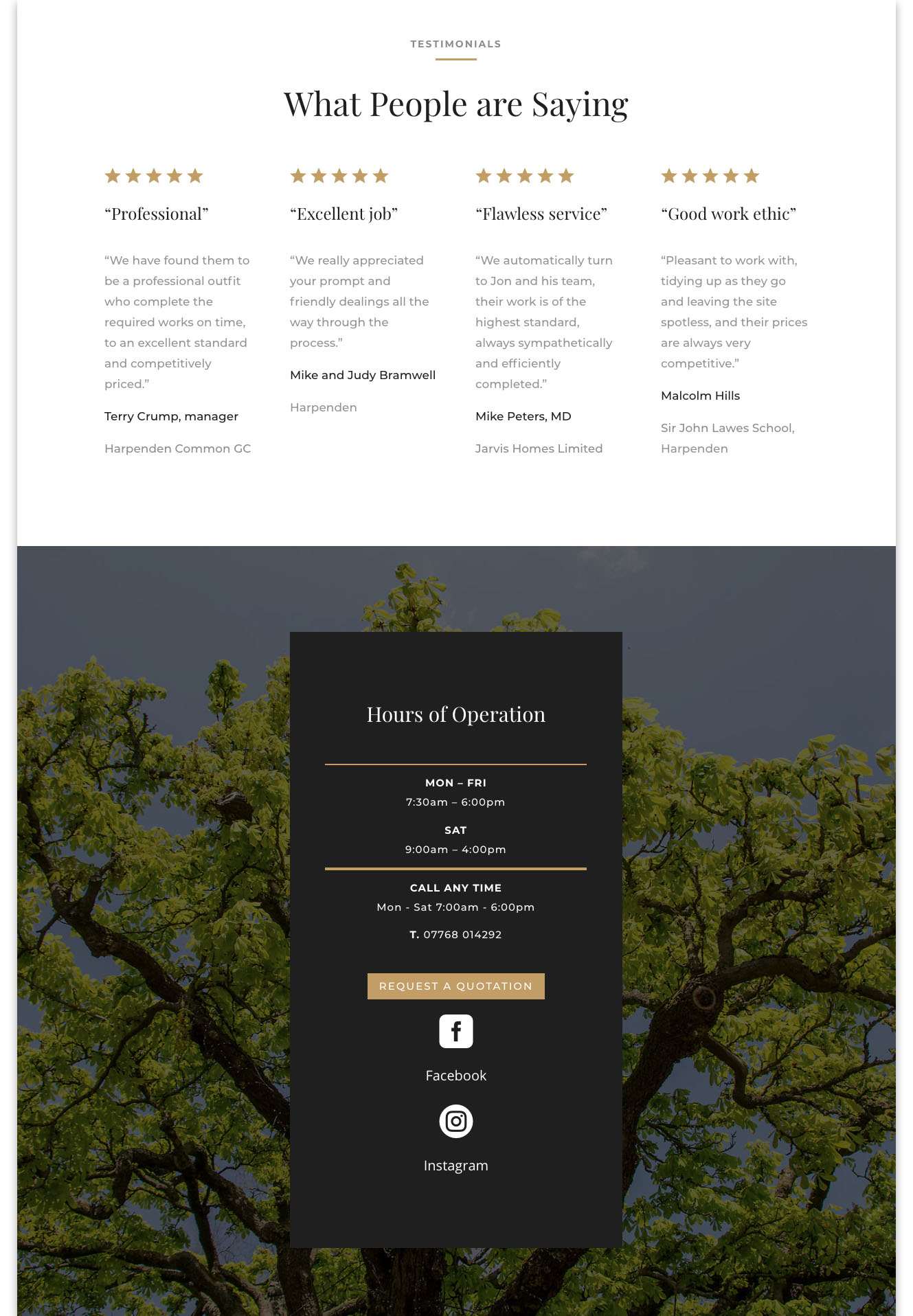 Web designers Belfast portfolio web site - franks forestry home page image 3